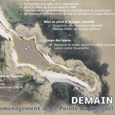 Campagne d'information pour l'aménagement de la pointe du Conguel – Quiberon (56)